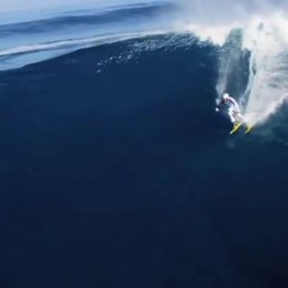 Cavalcando le onde con gli sci