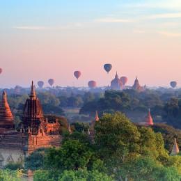 Le mille pagode di Bagan  Emozioni in mongolfiera