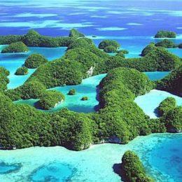 Palau, Micronesia:  alla fine dell'arcobaleno